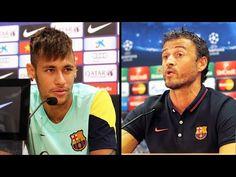 Rueda de prensa de Neymar y Luis Enrique (20-10-2014)