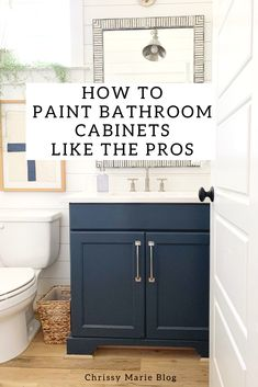 Painting Bathroom Cabinets: A Beginner's Guide - May Design School Painting Bathroom Cabinets, Painting Bathtub, Paint For Bathroom Cabinets, Best Paint For Cabinets, Best Paint For Bathroom, Best Cabinet Paint, Chalk Paint Cabinets, Bathroom Paintings, Kitchen Cabinets