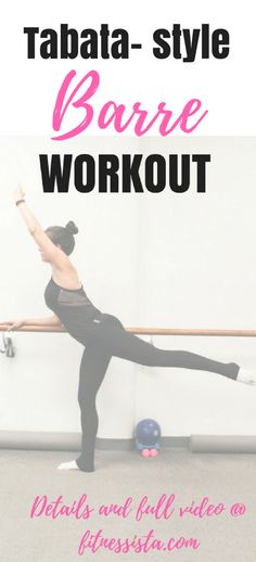 This is a collection of barre workouts that you can use while you're traveling, working out at home, or looking to change things up at the gym. Lots of video workouts here, too! All you need is a mat and a pair of light dumbbells. | Barre Workouts | The Fitnessista | Barre Workout Video, Tabata Workouts, Hiit, Workout Videos, Workout Classes, Beauty Tips In Hindi, Beauty Tips For Face, Workout Routines For Women, Happy Skin
