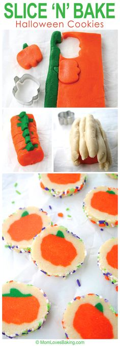 Do it yourself sugar cookies with surprise inside pumpkins for Halloween. #DIY #Tutorial