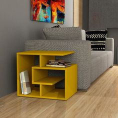 Modern sofa side table ideas you can use in your room 02 Cube Side Table, Sofa Side Table, Side Table With Storage, Modern Side Table, Home Decor Furniture, Furniture Projects, Diy Home Decor, Furniture Design, Home Living