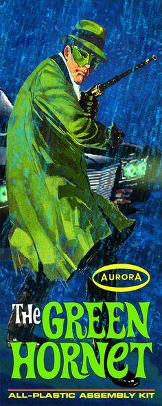 Box artwork for the Vintage Aurora plastic model kit (ca. 1967)