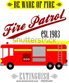 FIRE PATROL PRINT