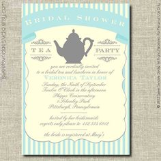 Bridal Shower Party Invitation Printable by sweetsundaestudio, $18.50