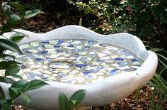 Hometalk :: Even the birds thought their birdbath was an eyesore. So with a thin l…