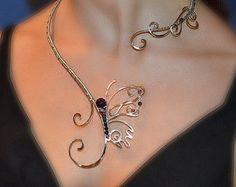 Halskette Silberschmuck Kupfer-Schmuck von AlenaStavtseva auf Etsy