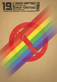 Poster design for Istanbul Pride.  LGBT Rights in Turkey: http://equaldex.com/region/turkey