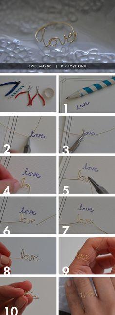 VALENTINE'S DIY | WIRE LOVE RING