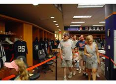 Private tour of Detroit Tigers locker room.