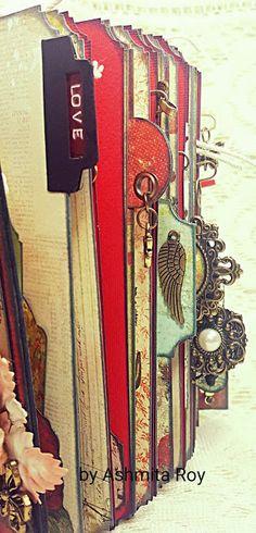 Prima Bella Rouge Junk journal! just look at those tabs #tabs #uniquetabs…
