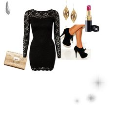 """""""black + gold"""" by maddieballet on Polyvore"""