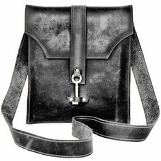 key of life leather messenger bag - my urbanware