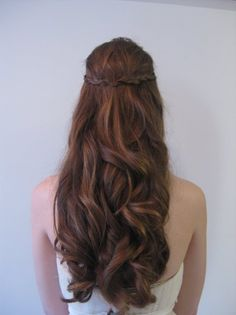 Shabby Chic Down Fall Garden Half-up Spring Summer Winter Wedding Hair & Beauty Photos & Pictures - WeddingWire.com