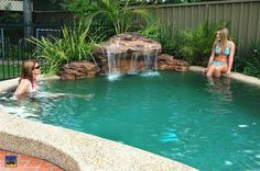 pool waterfalls | The Maldives | Swimming Pool Waterfalls | Universal Rocks