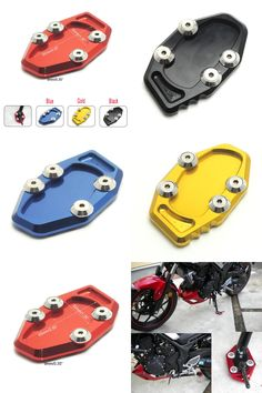 [Visit to Buy] Motorcycle MT-03 MT-25 R25 R3 CNC Side Stand Kickstand Support Plate Foot Pads for YAMAHA YZF-R3 YZF-R25 2014-2016 MT 25 MT 03 #Advertisement
