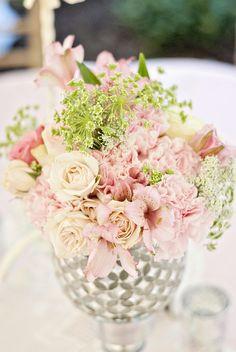pink blush soft centrepieces