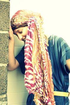 Love the head wrap - New Site Head Wrap Scarf, Boho Girl, Creative Hairstyles, Naturally Beautiful, Headgear, Modest Fashion, Head Wraps, African Fashion, Headpiece