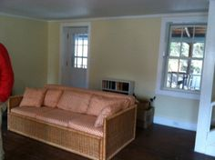 living room facing side porch