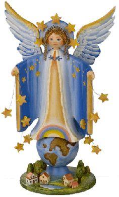 """Sammlerfiguren Jahresengel 2005 """"Schutzengel der Welt"""""""