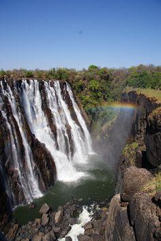 Livingstone in Zambia. Vanuit hier kun je gemakkelijk een bezoek brengen aan de bulderende Victoria watervallen