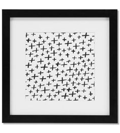 The Iso Crosses Framed Art Work. Digitally printed from a hand drawn graphic. White Wooden Floor, Monochrome Pattern, Scandinavian Interior Design, Hygge, Framed Artwork, How To Draw Hands, Sweet Home, Diy Crafts, Crosses