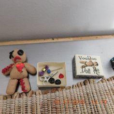 miniature dollhouse halloween witch haunted voodoo #ooak