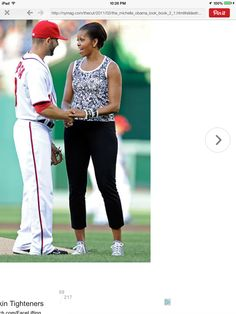 I know it's a baseball game, MO..... But seriously. You're not IN the game. And dressing up leggings and an exercise top with twenty bangle bracelets does NOT HELP.