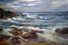Rocky seascape by Fanie Smit