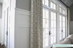 Family Room drapes/pillows - The Sunny Side Up Blog