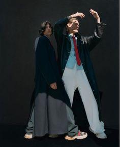 BALENCIAGA MEN FALL WINTER 17 @Them_Magazine @LottaVolkova @eloise_parry Fashion Shoot, Balenciaga, High Fashion, Duster Coat, Fall Winter, Normcore, Couture, Jackets, Magazine