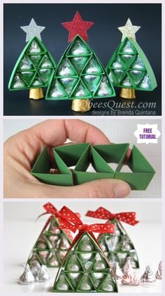 Diy Hershey Kisses Chocolate Christmas Tree Gifts - Easy Tutorials Happy New Year Christmas Candy Gifts, Mini Christmas Tree, Homemade Christmas Gifts, Kids Christmas, Simple Christmas, Candy Crafts, Holiday Crafts, 242, Printable Christmas Cards