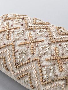 Hand Work Embroidery, Embroidery Kits, Beaded Embroidery, Embroidery Stitches, Embroidery Designs, Pakistani Kurta Designs, Tambour Beading, Hand Work Blouse Design, Handmade Clutch