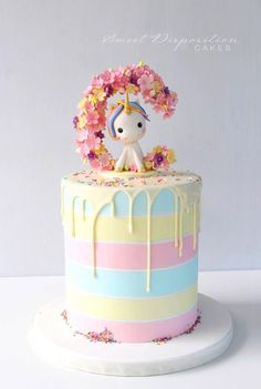 60 Simple Unicorn Cake Design Ideas Simple Unicorn Cake Design Ideas Inspired Photo of One Tier Birthday Cake Designs . Baby Cakes, Cupcake Cakes, Unicorn Cake Design, Unicorn Cakes, Unicorn Cake Topper, Beautiful Cakes, Amazing Cakes, Salty Cake, Drip Cakes