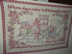 Minion, Ems, Folk Art, Marvel, Embroidery, Frame, Hungary, Vintage, Needlepoint