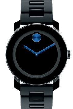 Movado Watch Black & blue - not my ideal, but I wouldn't send it back if it showed up at my house.