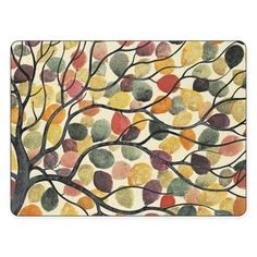 Add a light touch to your table with the Pimpernel Dancing Branches Placemats. Featuring a lively scene of blowing multicolored leaves, their heat-resistant finish makes them as durable as they are lovely.