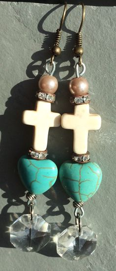A personal favorite from my Etsy shop https://www.etsy.com/listing/224560327/boho-earringsgypsy-style-turquoise