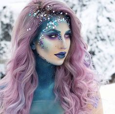Halloween – Make-up Schminke und Co. Halloween – Make-up Schminke und Co. Makeup Clown, Unicorn Makeup, Mermaid Makeup, Mermaid Costume Makeup, Siren Costume, Devil Makeup, Carnival Makeup, Cool Halloween Makeup, Halloween Cosplay