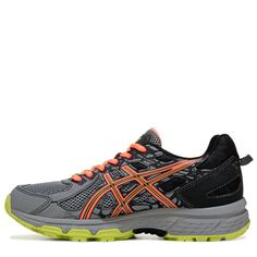 ASICS Women's Gel-Venture 6 Trail Running Shoes (Grey/Coral/Lime) - 12.0 M