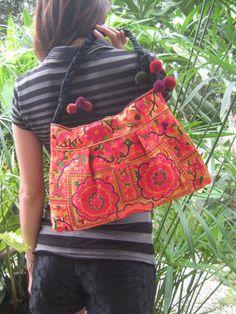 Hmong Old Vintage Style Ethnic Thai Boho Embroidered Bag Fabric Purses,  Embroidered Bag, Boho 5dc2ba2998