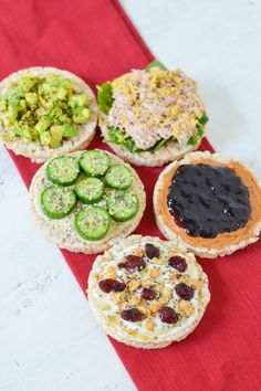 Skip the carbs w. these delicious and satisfying rice cake snack and meal ideas. Topped with protein and totally delicious. You& love these tasty treats. Rice Cakes Healthy, Rice Cake Snacks, Rice Cake Recipes, Healthy Food Blogs, Cereal Recipes, Healthy Food Choices, Snack Recipes, Healthy Recipes, Rice Cake Toppings