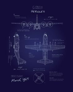 Check out this stunning Blueprint Art by Squadron Posters! Airplane Drawing, Airplane Art, Airplane Design, C130 Hercules, Cargo Transport, Blueprint Art, C 130, Patent Drawing, Aircraft Design