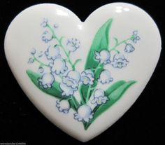 Avon Birthday Bouquet Pin MAY Lily of the Valley.