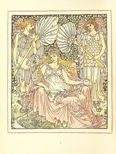 Image taken from page 8 of 'Queen Summer; or, the Tourney of the lily & the rose. Penned & portrayed by Walter Crane'   by The British Library