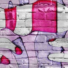 """Купить Граффити """"Дамские пальчики на кирпичной стене"""" - абстракция, подарок, современное украшение, фотокартина"""