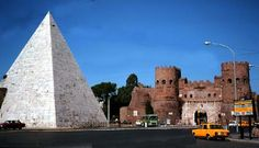 Pyramids in Rome,Italy near the Porta San Paolo and the Protestant Cemetery.  - Crystalinks