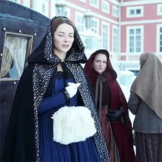 Arrival in Russia (Winter, at the age of Everything Is Falling Apart, Catherine The Great, Star Crossed, Cosplay, Period Costumes, Period Dramas, Cloak, Halloween, 18th Century