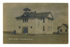 Wellington, Colorado. RPPC. Public School. Nr. Fort Collins. ca. 1910.