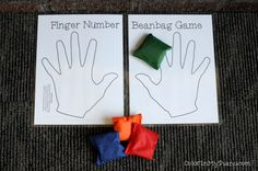 Finger Number Beanbag Game -- a quick and easy activity for reviewing piano fingering and RH versus LH!