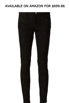 61ee0e6d6221d Creatures of the Wind Women s Slim Fit Suede Trousers Sz 10 Black ◇  AVAILABLE ON AMAZON